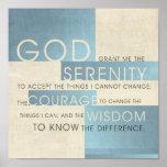 Gebed II van de sereniteit Print