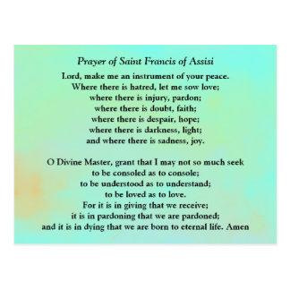 Gebed van Heilige Francis van Assisi Briefkaart