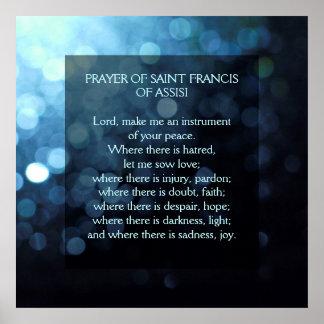 Gebed van Heilige Francis van Assisi Poster