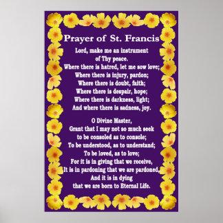 Gebed van St Francis met de Gouden Grens van Poster
