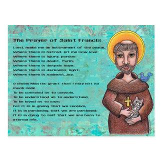 Gebed van St. Francis Postcard Briefkaart