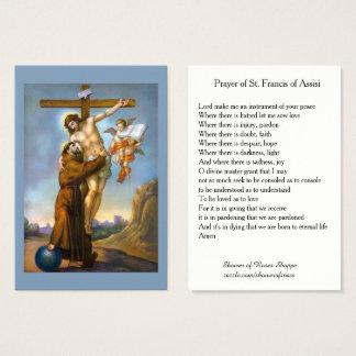 Gebed van St. Francis van de Heilige Kaarten van Visitekaartjes