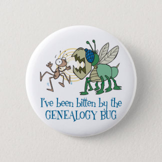 Gebeten door het Insect van de Genealogie Ronde Button 5,7 Cm