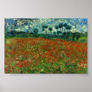 Gebied met Papavers door Van Gogh Fine Art. Poster