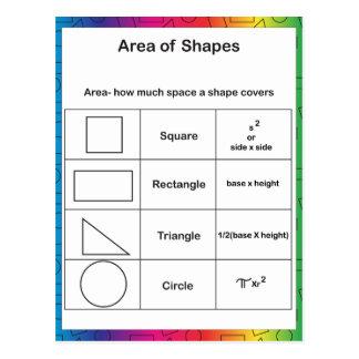 Gebied van de Regenboog van Vormen Briefkaart