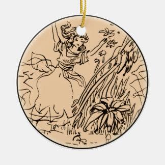 Gebieden van Spel Rond Keramisch Ornament