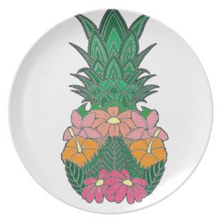 Gebloeide Ananas Bord