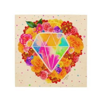 Gebloeide Diamant Hout Afdruk