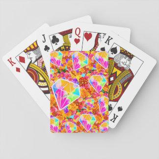Gebloeide Diamant Speelkaarten
