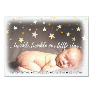 Geboorte Announcemet 12,7x17,8 Uitnodiging Kaart