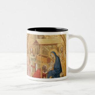 Geboorte van Christus en de Bewondering van Magi Tweekleurige Koffiemok