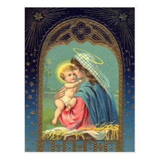 Geboorte van Christus Mary Holding het Baby Jesus Briefkaart