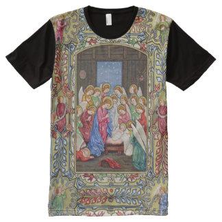 Geboorte van Christus van Onze Lord Volledig Bedrukte T-shirts