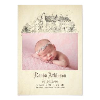 Geboorte van de Foto van het Baby van de Prinses Kaart