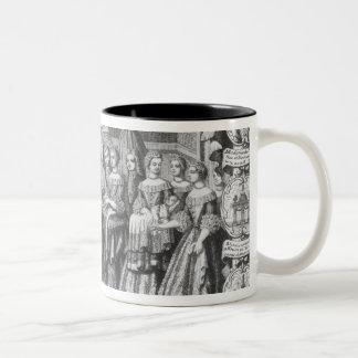 Geboorte van Louis, Dauphin van Frankrijk Tweekleurige Koffiemok