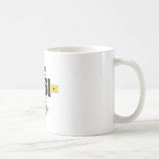 geboren in 1961 (choco&yellow) koffiemok