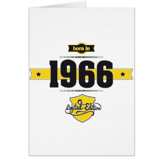 geboren in 1966 (choco&yellow) wenskaart