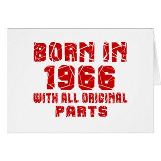 Geboren in 1966 met Alle Originele Delen Wenskaart