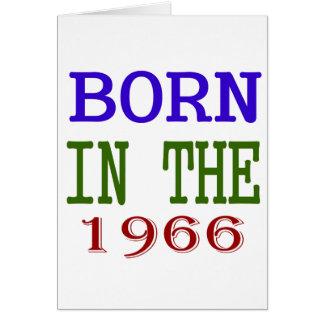 Geboren in 1966 wenskaart