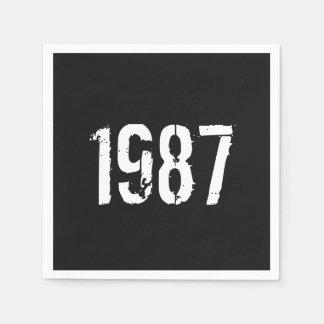 Geboren in 1987 Verjaardag Jaar Wegwerp Servet