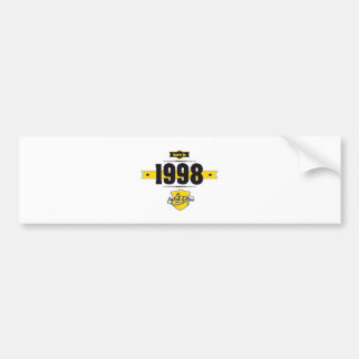 geboren in 1998 (choco&yellow) bumpersticker