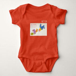 Geboren in Bodysuit van het Baby van de Haan Jaar