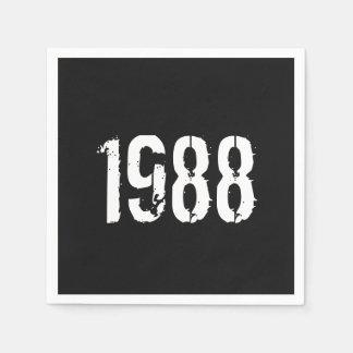 Geboren in de 30ste Verjaardag van 1988 Wegwerp Servet
