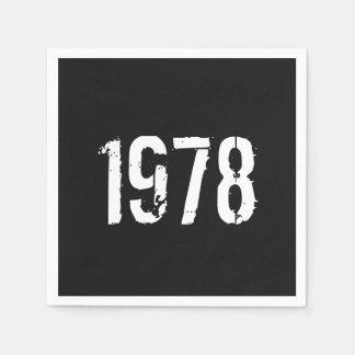 Geboren in de 40ste Verjaardag Jaar van 1978 Wegwerp Servetten
