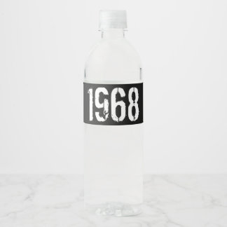 Geboren in de 50ste Verjaardag Jaar van 1968 Waterfles Etiket