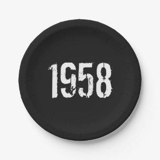 Geboren in de 60ste Verjaardag Jaar van 1958 Papieren Bordje