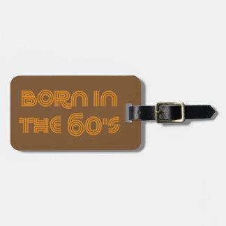 Geboren in de jaren '60 bagagelabel