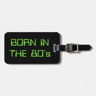 Geboren in de jaren '80 kofferlabel