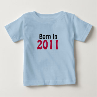 Geboren in de T-shirt van het Baby van 2011