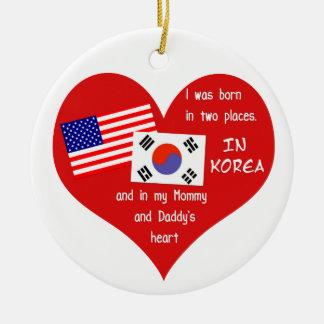 Geboren in Twee Plaatsen - de Koreaanse Rond Keramisch Ornament