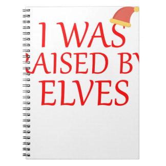 geboren met elf, giftelf, Kerstmis, feeoverhemd Notitieboek