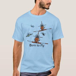 Geboren om de T-shirt van de Vliegenier te vliegen