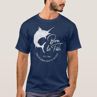 Geboren om de Zaken van de Visserij van de Douane T Shirt