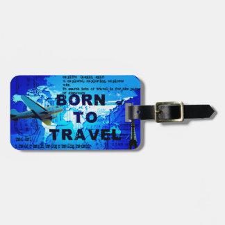 Geboren om het Label van de Bagage te reizen Kofferlabel