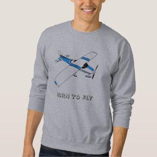 GEBOREN om het Sweatshirt van het Mannen TE