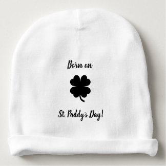 Geboren op St. de Dag van de Padie Baby Mutsje