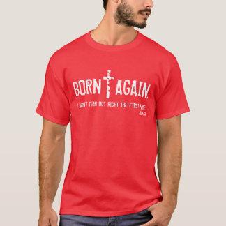 Geboren opnieuw bijbelvers John 3 t-shirt