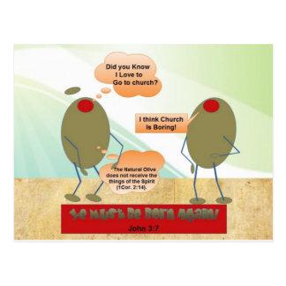 Geboren opnieuw Olijven Briefkaart