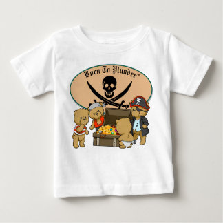 Geboren te plunderen - de Piraten & de Schat van Baby T Shirts