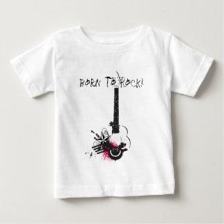 Geboren te schommelen! baby t shirts