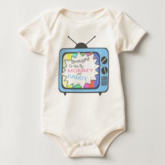 Gebracht aan u door Mama en Papa - Blauwe Baby Shirt