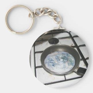 Gebraden Aarde Basic Ronde Button Sleutelhanger