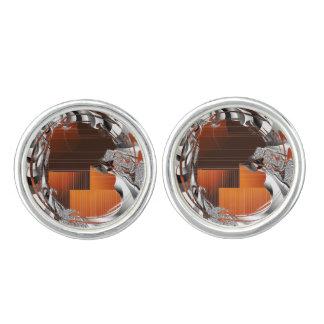 Gebrand Oranje Art deco Manchetknopen