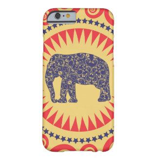 Gebrand Preppy van Vinatge van de Olifant van het Barely There iPhone 6 Hoesje