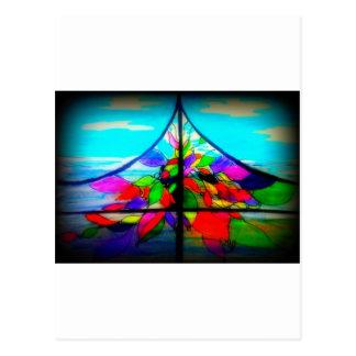 Gebrandschilderd glas bij het Huis van het Strand Briefkaart