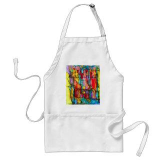 gebrandschilderd glas de Fijne Kunst van het Koken Standaard Schort